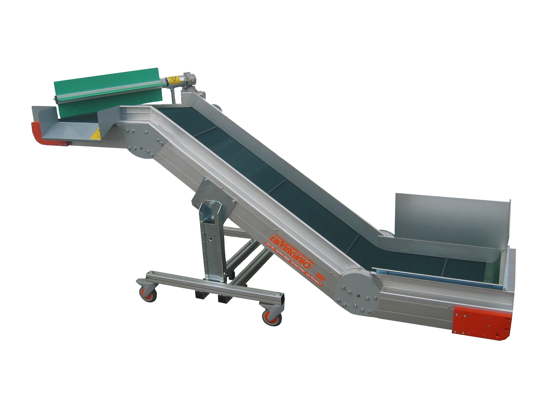 AL-CBD / CBDS angled conveyor belt in Z version